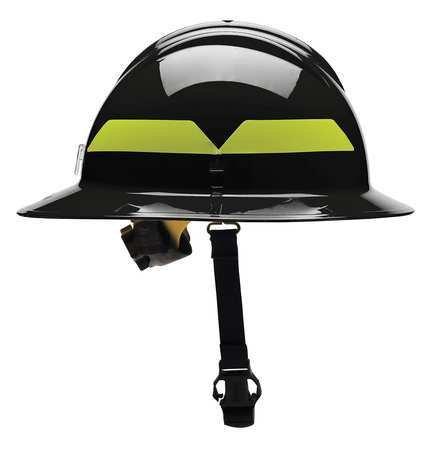 Fire Helmet, Black, Thermoplastic