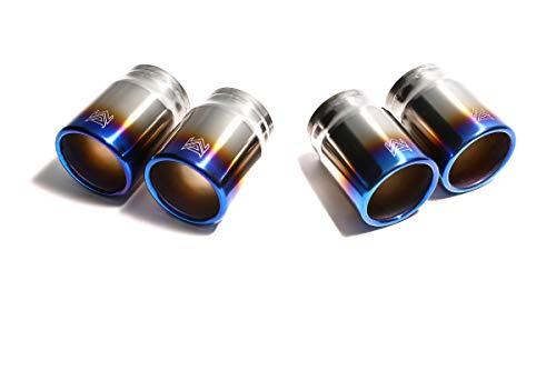Armytrix 911 TURBO (997) 3.6 Turbo, 2006 › 2009, 353kw / 480hp - Quad Titanium Blue Tips (4x80mm) [QT19B]: