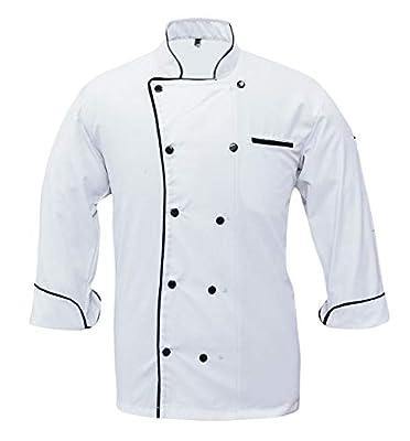Leorenzo Creation PN-71 Men's Chef Coat Black Piping (Size= XXS-5XL, Colours=5)