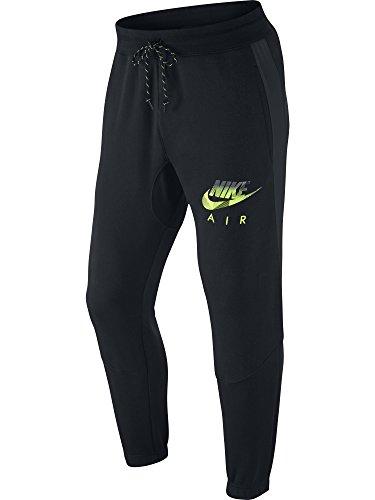 Nike Mens AW77 Hybrid Cuffed Fleece Sweatpants Black/Volt 678530-010 Size 2X-Large