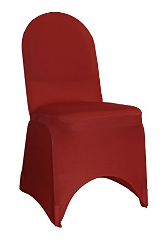 Your Chair Covers - 50 Pack Stretch Spandex Banquet Chair Cover - Burgundy, Wedding Slip Covers, Premium Quality Chair Cover