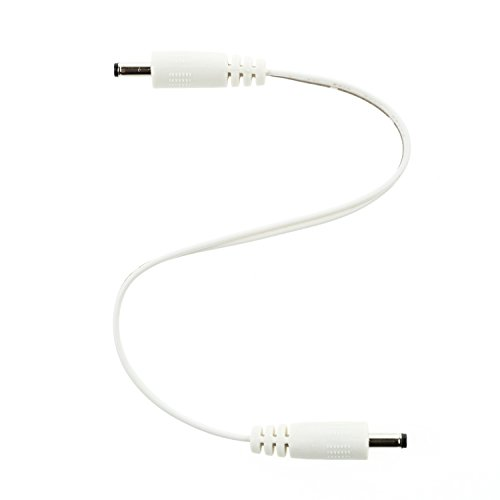 EShine Interconnect Cable for LED Under Cabinet Lighting with Wire Clips for Comfortable Installation. (6 inch, White)