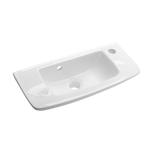 Wall Mount Sink White Grade A Vitreous China Scratch And Stain Resistant Offset With Overflow Renovator's Supply by Renovator's Supply