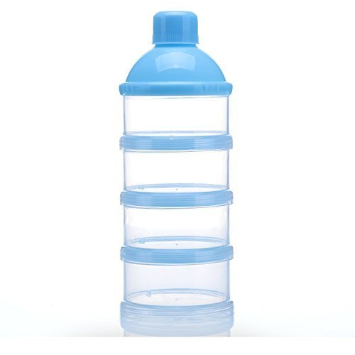 Sysrion Non Spill Baby Milk Powder Dispenser   Storage Container  Blue  1Pcs