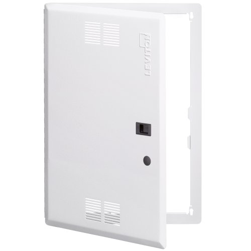Leviton 47605-21S 21-Inch Vented, Structured Media Premium Hinged Door, White