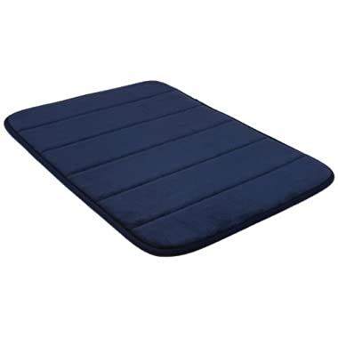 Northpoint Life is Soft Collection Memory Foam Bath Mat, 17 by 24-Inch, Navy
