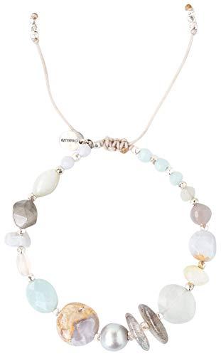 Chan Luu Amazonite Light Blue Mix Pull-tie Adjustable Bracelet ()