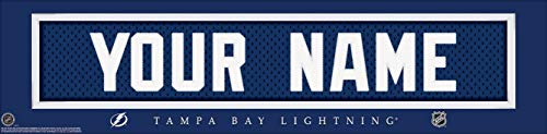 - Tampa Bay Lightning NHL Jersey Nameplate Wall Print, Personalized Gift, Boy's Room Decor 6x22 Unframed Poster