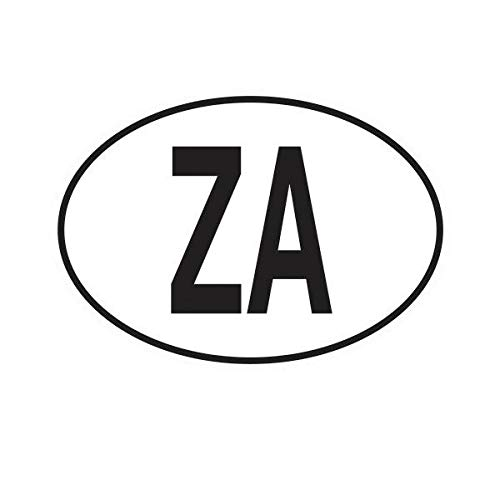 Morgan Graphics ZA South Africa Country Code Oval Sticker Decal Vinyl South African Euro Vinyl Decal Sticker Car Waterproof Car Decal Bumper Sticker 5