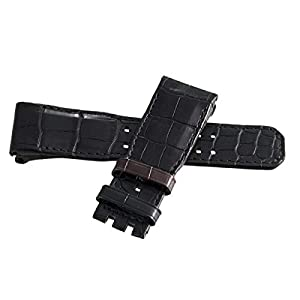 Best Epic Trends 31Y-OIBK6FL._SS300_ Jaeger LeCoultre Men's 25mm Black and Brown Leather Watch Band Strap M-F