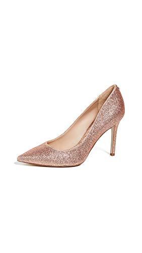 Sam Edelman Women's Hazel Pump Rose Gold Mini Glitter 5.5 M US (Pink Designer Shoes)