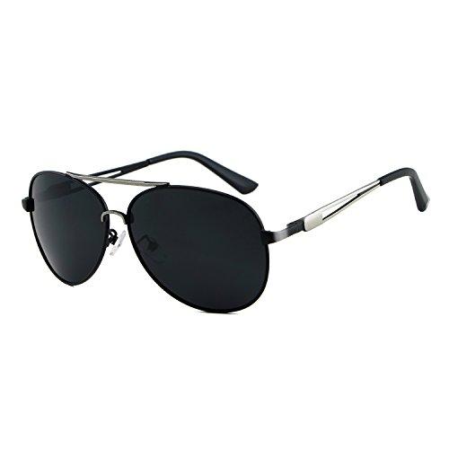 Black Pantalones diseñador para para Accesorios Sol Sol Gafas polarizadas de Marca de de de Shishanyun la Gafas Hombre Gafas Vendimia Hombres de Retro aviación la de qZnpxC4OwO