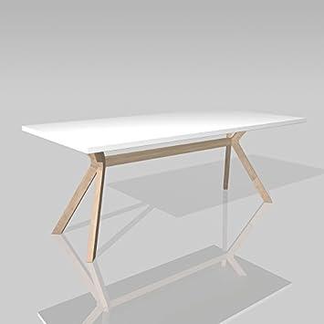 Design Esstisch design esstisch esszimmertisch kozani weiß tischbeine massivholz