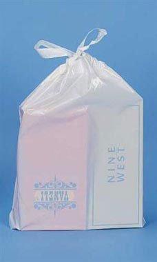 White Plastic Drawtape Bags (250 Bags/Case) - STOR-90106