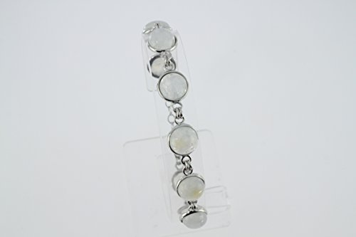 Bracelet en Pierre de lune B 102-01 - Bijoux en argent rhodié et Pierre de lune - Diverses pierres possible - ARTIPOL