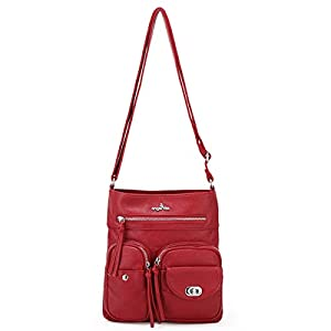 Crossover Purse and Handbags Crossbody Bags for Women Soft Leather Wallet Cute Small Neatpack Bag with Pockets 21