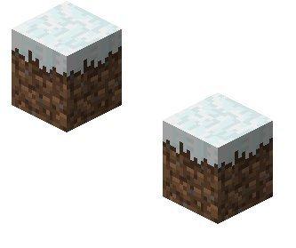 Minecraft Snow Dirt Block 2pk  Paper Craft
