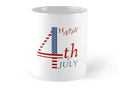 CASURI Mugs 4th Of July Independence Day Greeting- US Flag Colors And Stylized Lettering Day 4th Of July Independence American Flag Gift For Dad, Uncle, Mom, Friend, Father, GrandPa, Grandfather, Fath