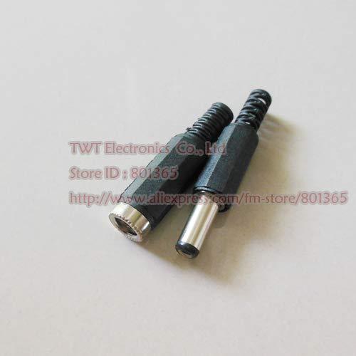 2.1x5.5mm DC Male//Female Power Jack Connector Plug Adapter CCTV Camera 50pcs US