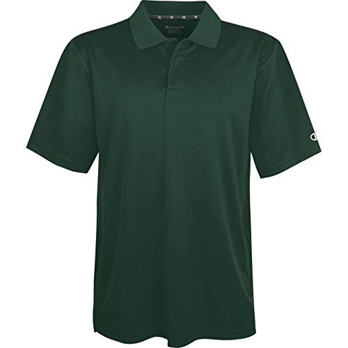 Champion Double Dry Ultimate Polo Shirt, Athletic Dark Green, Large ()