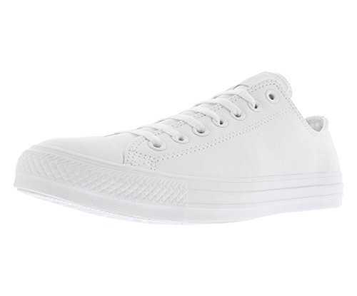 (Converse Unisex Chuck Taylor All Star Ox Low Top Classic White Leather Sneakers - 40 M EU)