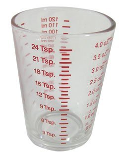 4 Oz Measuring Glass, in Ml, Oz, Tsp, Tbs, Pack of - Measure Glass