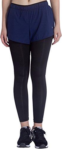 KomPrexx Pantalón Deportivo de Mujer Leggings Negro para Yoga Running Ejercicio Azul oscuro-2