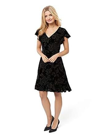 Review Women's Evening Rose Dress Black 6