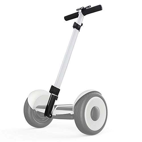 (Dual Purpose Segway Handlebar for Minilite Scooter with Kickstand and Phone Mount, Handle Bracket with Knee Control, Self Balance Hoverboard Handle Bar Handle Bracket (White (Hand Control)))