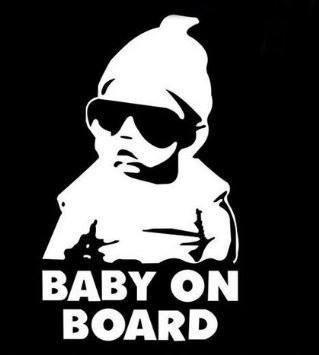 Leso/© Baby On Board Car Sticker Adesivo Per Auto Grigio reflektierend s024