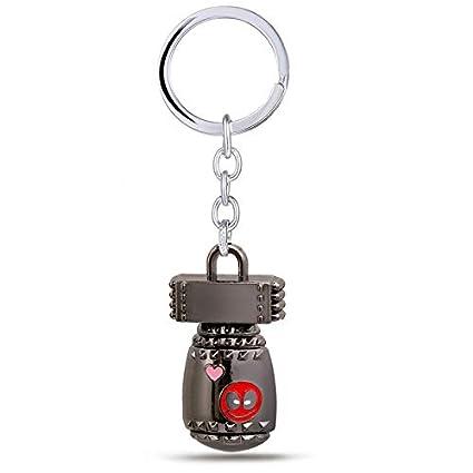 Amazon.com: Mct12 - Deadpool Key chain Dead Pool Logo Red ...
