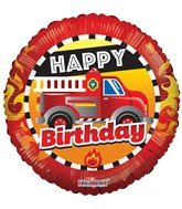 LoonBalloon FIRE TRUCK FireTruck Rescue Ladder 11 Birthday Party Mylar /& Latex Balloon Set B