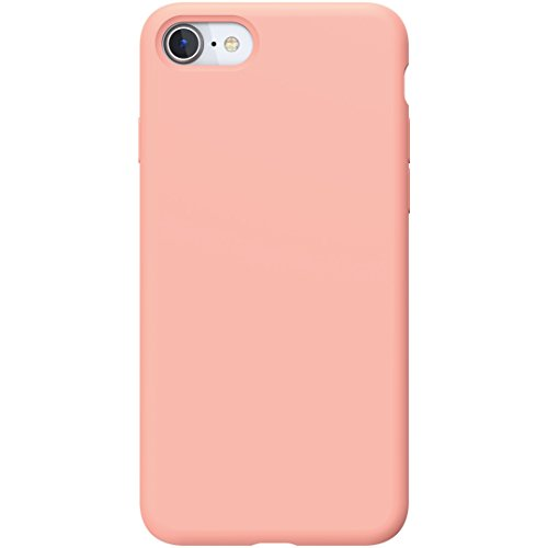 Silicone iPhone 7 Case/iPhone 8 Case | Powerbear Slim Soft Touch Liquid Silicone Gel Rubber Case | Shock Absorption and Anti Scratch Finish | for The Apple iPhone 7/8 - Pink