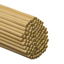 100 Pcs, 1/2'' X 48'' Birch Wood Dowels Hardwood by SNS (Image #1)