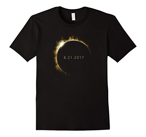 Mens Total Solar Eclipse Summer August 21St 2017 T Shirt Large Black