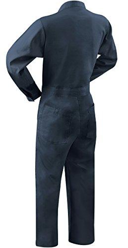 Steiner 1065-M Coverall, Weldlite Navy Blue 9-Ounce Flame Retardant Cotton, Medium by Steiner (Image #1)