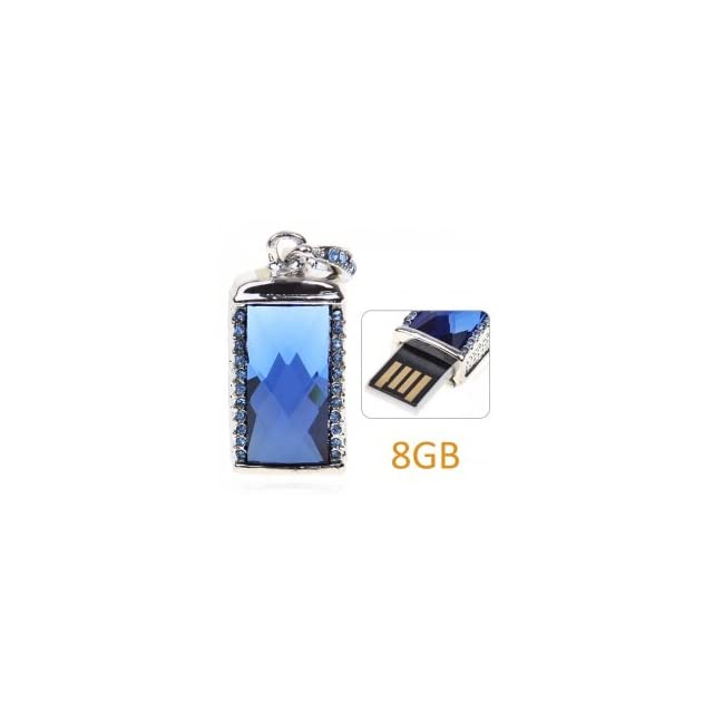 Monochromatic Tag Pendant USB Flash Drive  USB 8 GB Flash Drive Memory   Apply to Spy Gadgets for Adults   Blue