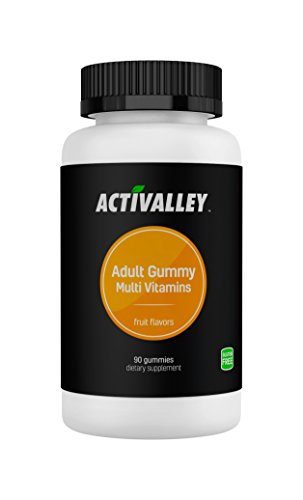 Activalley Adult Gummy Multivitamins | 90 Gummies Combining with Vitamin A, C, D, E, B-6, B-12, Biotin, Zinc and More!
