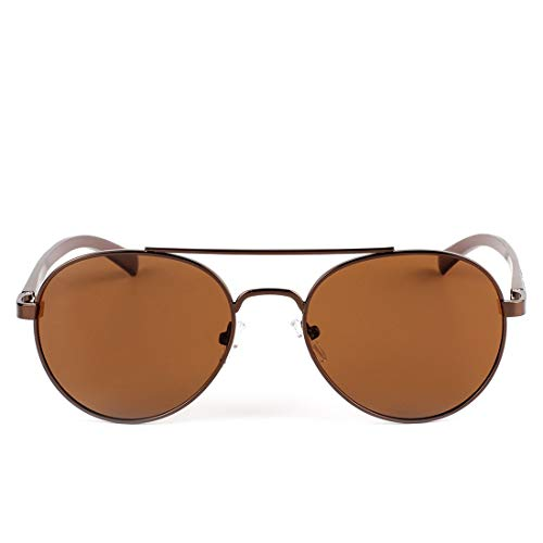 polarizadas Black Sol Frame polarizadas de Color Gafas de Gafas Sol Redondas Lens Sakuldes Gun Tea Lens Retro Hombres Frame Tea zRSqwx6B