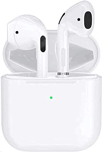 Wireless Earbuds Bluetooth 5.0 Headset Bluetooth Headphones with 24Hrs Charging Case,IPX7 Waterproof Earbuds Built-in Mic,3-d Stereo Earphones, for Apple Airpods professional iPhone/Android/Samsung/iOS