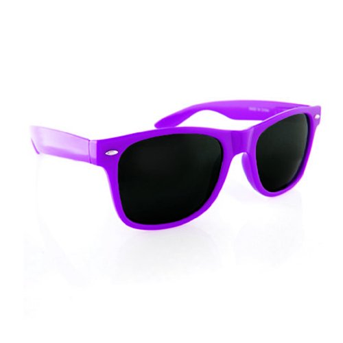 Neon Retro Classic Sunglasses Horn Rimmed Frame (Purple/Black, - Sunglasses Frame Purple