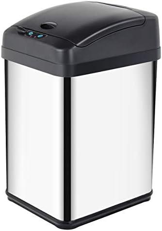 Bidone con sensore Circolare a Tecnologia a infrarossi Bianco Grandma Shark Bidone da Cucina Acciaio Inossidabile 58 Litri
