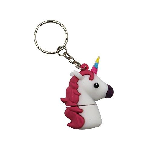 Sundiao Lovely Cartoon Unicorn PVC USB Flash Drive 2.0 Cute Gift USB Flash Memory Disk USB Flash Stick Pen Drive (32GB, White) by SunDiao (Image #1)