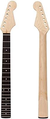 ammoon Cuello de Guitarra de Arce Diapasón de Palisandro para Reemplazar para ST Strat Guitarra Eléctrica: Amazon.es: Instrumentos musicales