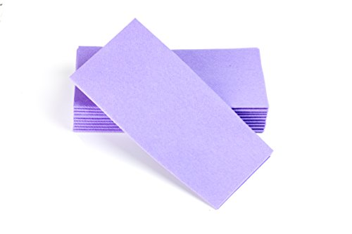"Simulinen Dinner Napkins – Disposable, LAVENDER, Cloth-Like – Elegant & Heavy Duty, Soft & Absorbent, Like Paper but Better! 16""x16"" – Box of 50 ()"