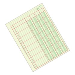 Green Columnar Sheets Single (Adams(R) Analysis Pad, 8 1/2in. x 11in., 100 Pages (50 Sheets), 4 Columns, Green)