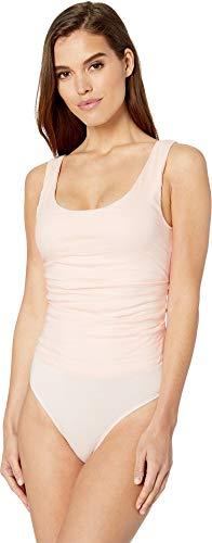(Nicole Miller Women's Cotton Metal Bodysuit Peach Daquari Medium)