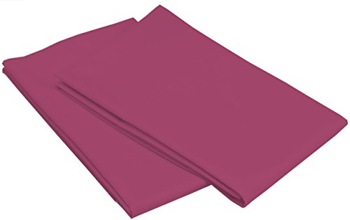 [Scala Hotel Collection 500 Thread Count 100% Egyptian Cotton Pillowcases Solid Standard Wine] (Egyptian Wine)