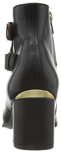 Calvin Black Boot Leather Klein Florine Women's fqrAfFp