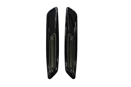 Amber LED Side Marker Turn Signal Light For BMW E60 E82 E83 E88 E90 E91 F10 F12 F18 Smoke Lens Style Black